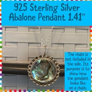 925 Sterling Silver Abalone Pendant